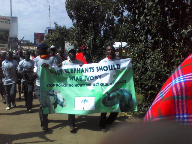 Elephant Aware and Predator Aware Support Kenyans United Against Poaching Walk– Jan 22, 2013