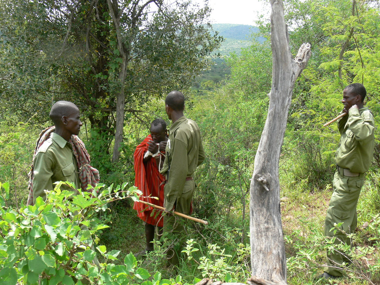 Our Rangers Catch Poacher 30 Jan 2013